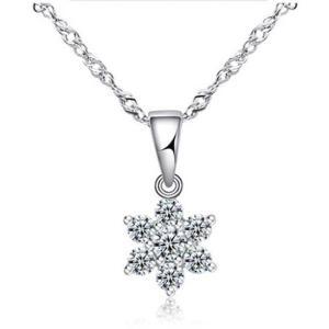 ネックレス ニッケルフリー 大人気 シンプル 雪の結晶 ネックレス アクセサリー ジュエリー 上品 大人 可愛い|ftb-plus