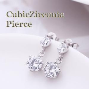 ピアス レディース 高級CZダイヤ キュービックジルコニア 6本爪 大き粒ダイヤ 輝き ポイント消化|ftb-plus