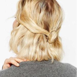 ゴールドヘアピン サークル ヘアーアクセサリー ヘアクリップ ヘアアレンジ 簡単 髪留め|ftb-plus