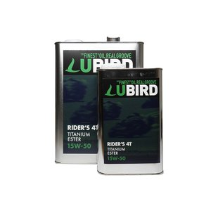 LUBIRD/ルバード  RIDER'S 4T 15W-50  4L缶   【2輪4ストローク用エンジンオイル】|ftk-oil-products