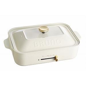 BRUNO(ブルーノ) コンパクトホットプレート ホワイト BOE021-WH|ftk-tsutayaelectrics