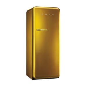 SMEG(スメッグ) 1ドア冷凍冷蔵庫248L/右開き 200Vゴールド FAB28RDG|ftk-tsutayaelectrics