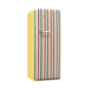 SMEG(スメッグ) 1ドア冷凍冷蔵庫248L/右開き 200Vストライプ FAB28RCS1|ftk-tsutayaelectrics