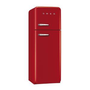 SMEG(スメッグ) 2ドア冷凍冷蔵庫293L/右開き 200Vレッド FAB30RR1|ftk-tsutayaelectrics