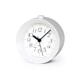 Lemnos タカタレムノス WR09-14 WH 【置き時計 アラーム時計 RIKI ALARM CLOCK リキ アラーム クロック ホワイト光沢塗装】 ftk-tsutayaelectrics