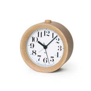 Lemnos タカタレムノス WR09-15 NT 【置き時計 アラーム時計 RIKI ALARM CLOCK リキ アラーム クロック ナチュラル】 ftk-tsutayaelectrics