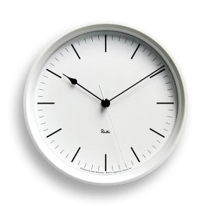 Lemnos タカタレムノス WR08-24 WH 【掛け時計 電波時計 RIKI STEEL CLOCK リキ スチール クロック ホワイト】 ftk-tsutayaelectrics