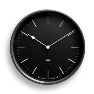 Lemnos タカタレムノス WR08-24 BK 【掛け時計 電波時計 RIKI STEEL CLOCK リキ スチール クロック ブラック】 ftk-tsutayaelectrics