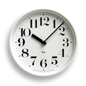 Lemnos タカタレムノス WR08-25 WH 【掛け時計 電波時計 RIKI STEEL CLOCK リキ スチール クロック ホワイト】 ftk-tsutayaelectrics