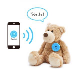 Pechat(ペチャット) ぬいぐるみをおしゃべりにするボタン型スピーカー ブルー|ftk-tsutayaelectrics