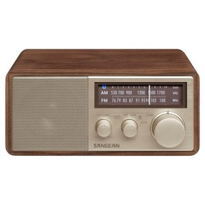 【Sangean】FM/AMラジオ・Bluetoothスピカ― WR-302 ウォルナット|ftk-tsutayaelectrics