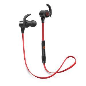 TaoTronics タオトロニクス Bluetooth ワイヤレスイヤホン スポ ーツ TT-BH07 レッド|ftk-tsutayaelectrics