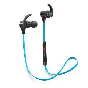 TaoTronics タオトロニクス Bluetooth ワイヤレスイヤホン スポ ーツ TT-BH07 ブルー|ftk-tsutayaelectrics