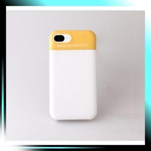 ホワイト&イエロー ZENUS iPhone4/4S対応 ケース Leather Bar ホ|fubuki
