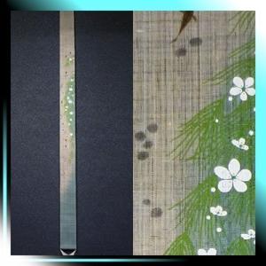 麻細タペストリー『梅花藻』 掛軸 和風タペストリー |夏||fubuki