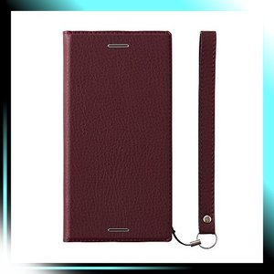 シュリンクレッド/クラリーノ Xperia XZ1 ケース 手帳型 FlipNot|fubuki