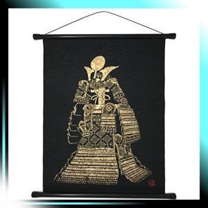 総柄 友禅和紙 タペストリー 鎧兜, 58×46cm|fubuki