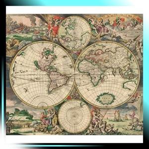 世界地図 world map 壁掛け 布 テーブルクロス|fubuki
