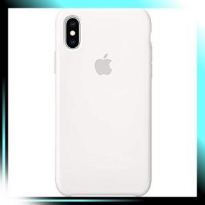 ホワイト iPhone XSシリコーンケース - ホワイト