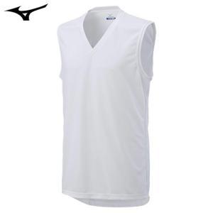 ミズノ(MIZUNO) アイスタッチ エブリ Vネックノースリーブシャツ 男性用 ホワイト M|fudasho0ban