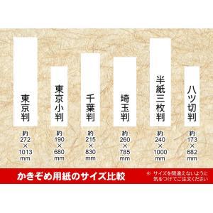 書初(かきぞめ)用紙 半紙三枚判 20枚 fudenosato