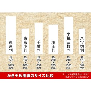書初(かきぞめ)用紙 東京小判 20枚 fudenosato