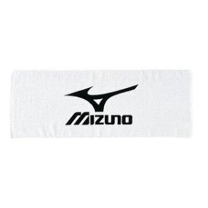 【MIZUNO】ミズノ スポーツタオル ホワイト×ブラック A60ZT30709 fudou-sp
