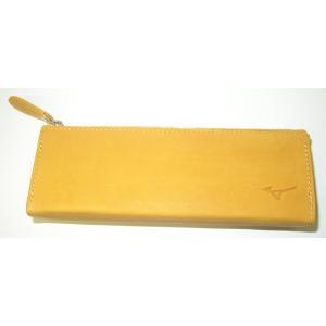 【MIZUNO】ミズノ グラブ革製ペンケース fudou-sp