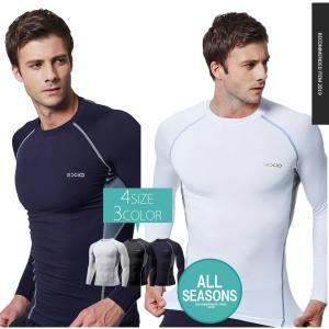アンダーシャツ 長袖 丸首 メンズ 接触冷感 ...の詳細画像4