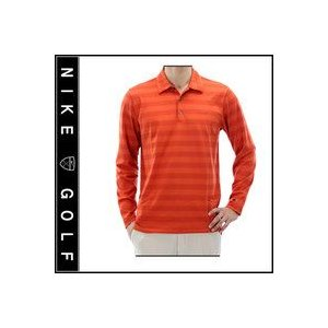 Nike Golf DRI-FIT TIGER WOODS COLLECTION ロングスリーブ ボーダーポロシャツ|fuerzajapan