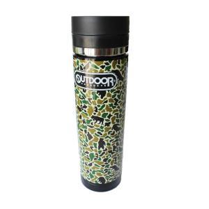 【送料無料】OUTDOOR PRODUCTS 水筒 300ml 迷彩 ステンレス製 | 軽量 ステンレスボトル マグボトル マイボトル 保冷 保温 スポーツ ランニング|fuerzajapan