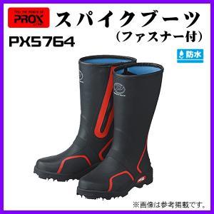プロックス ( PROX )  スパイクブーツ ファスナー付  PX5764M  ブラック×レッド  M ( 25〜25.5 )|fuga0223