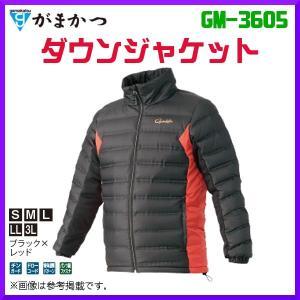 ( 先行予約 )  がまかつ  ダウンジャケット  GM-3605  ブラック×レッド  LL  ( 2019年 10月新製品 ) fuga0223