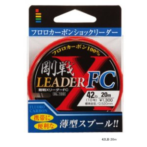 ゴーセン 剛戦Xリーダー FC GL10317 30m 17LB (4号)|fugashop2