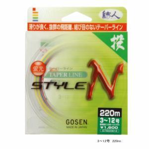 ゴーセン テーパーライン スタイルN GT8172512 170m 2.5-12号|fugashop2