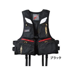 ≪'17年6月新商品!≫ マルキュー PFD02 L2(レジャー用ライフジャケット) ブラック フリーサイズ|fugashop2