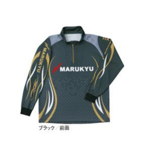 ≪'17年4月新商品!≫ マルキュー ジップアップシャツ ブラック Mサイズ|fugashop2