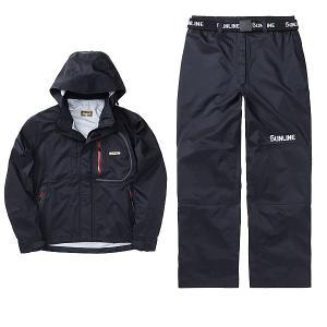【メーカー在庫限り】 サンライン ディアライト オールウェザースーツ SCW-6109 ブラック×ブラック S|fugashop2