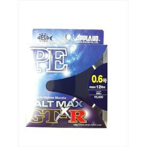 ライン サンヨーナイロン/ ソルトマックスGT-R PE 200m 0.6号12LB fugetsu-kihe