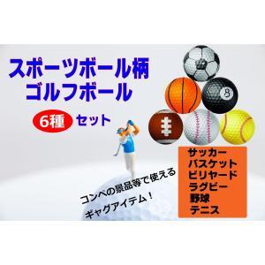 ユニークなスポーツボール柄のゴルフボールセットです。  ゴルフ仲間との話題作りにいかががでしょうか?...