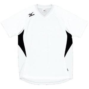 ドッジボール専用 ゲームシャツ ミズノ A62HY-144 ホワイト×ブラック MIZUNO JDBA|fuji-spo-big5