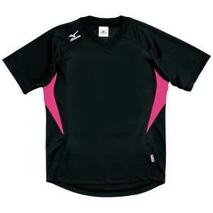 ドッジボール専用 ゲームシャツ ミズノ A62HY-144 ブラック×ピンク MIZUNO JDBA|fuji-spo-big5