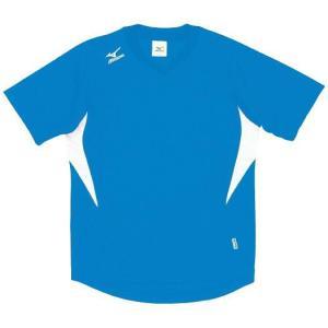 ドッジボール専用 ゲームシャツ ミズノ A62HY-144 Dサックス×ホワイト MIZUNO JDBA|fuji-spo-big5