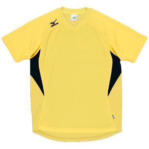 ドッジボール専用 ゲームシャツ ミズノ A62HY-144 イエロー×ブラック MIZUNO JDBA|fuji-spo-big5