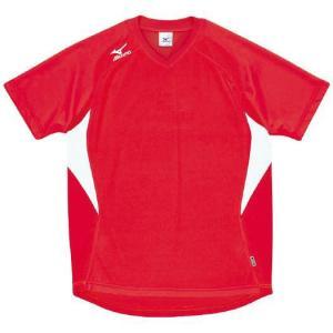 ドッジボール専用 ゲームシャツ ミズノ A62HY-144 レッド×ホワイト MIZUNO JDBA|fuji-spo-big5