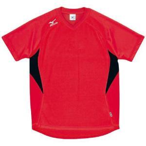 ドッジボール専用 ゲームシャツ ミズノ A62HY-144 レッド×ブラック MIZUNO JDBA|fuji-spo-big5