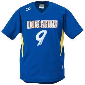ドッジボール専用 ゲームシャツ ミズノ A62HY-144 ブルー×イエロー MIZUNO JDBA|fuji-spo-big5