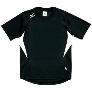 ドッジボール専用 ゲームシャツ ミズノ A62HY-144 ブラック×ホワイト MIZUNO JDBA|fuji-spo-big5