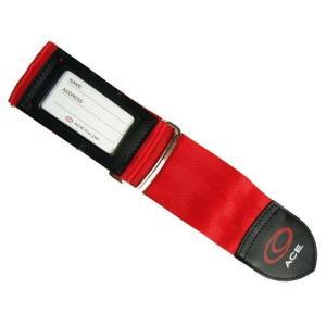 [タビトモ] スーツケースベルト 205 cm 32149 レッド|fujibeni
