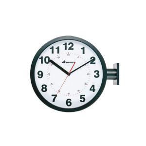 ダルトン 掛け時計 ブラック W44.5×D13×H38cm ダブルフェイス ウォールクロック S82429BK|fujibeni